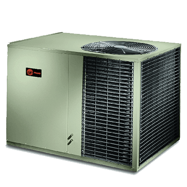 Trane XR14c XR14h Over/Under packaged heat pump systems.