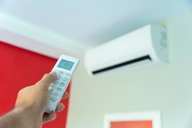 Ductless unit with remote